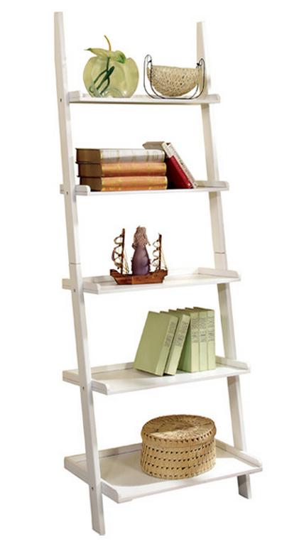 Ladder Bookcase White