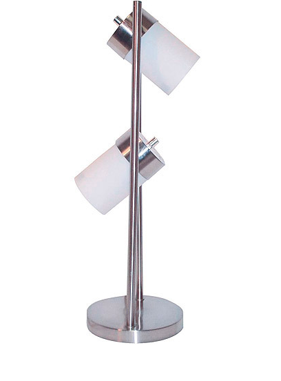 Two Lights White Table Lamp