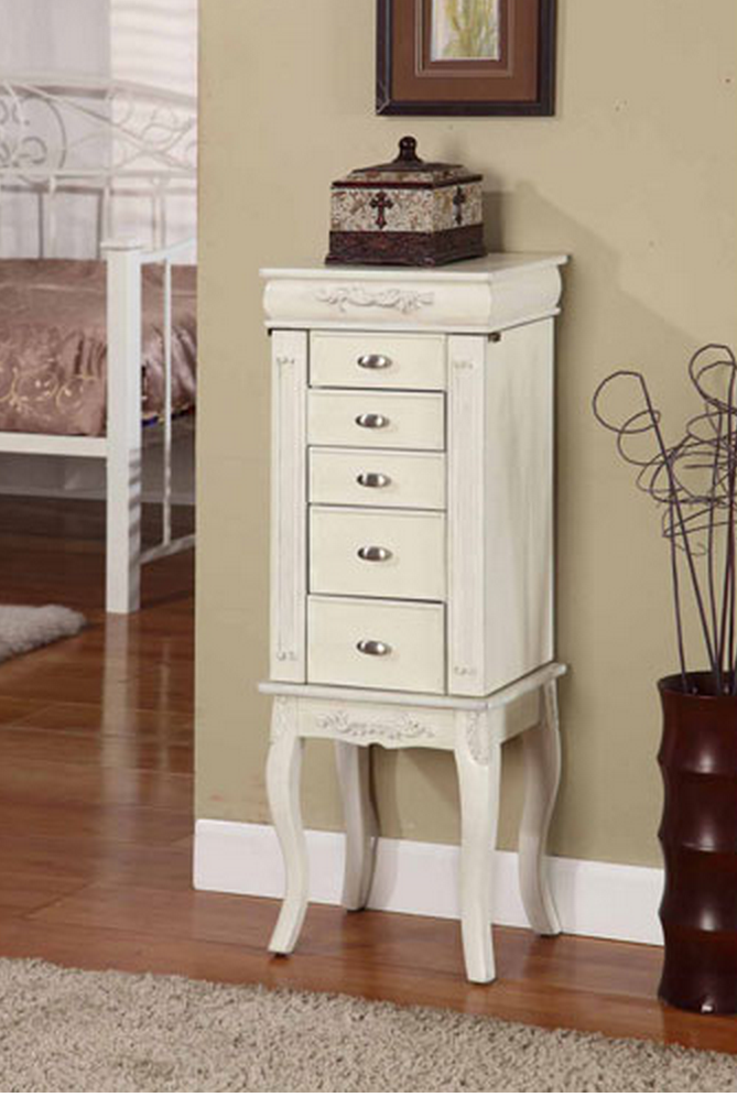 Cute White Jewelry Armoire