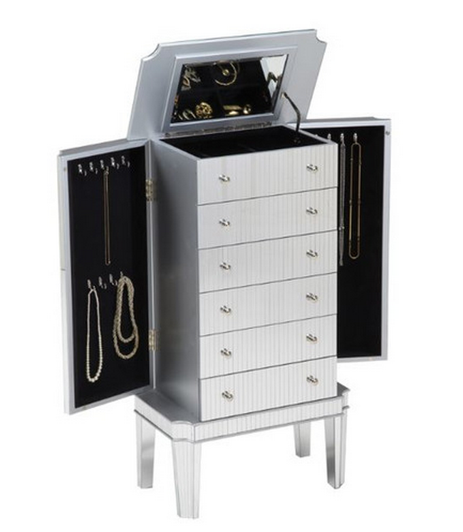 Cute Jewelry Armoire With Mirror