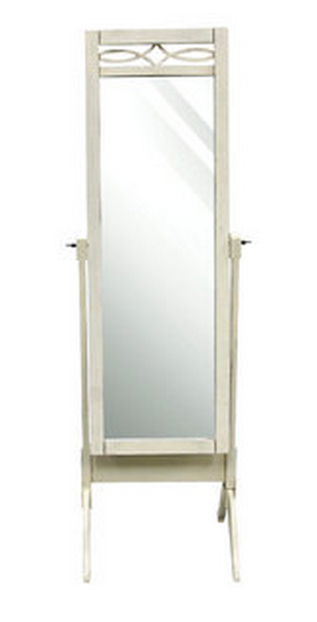 Rectangle White Floor Mirror