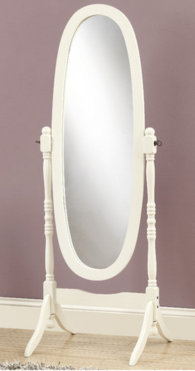 Oval White Floow Mirror