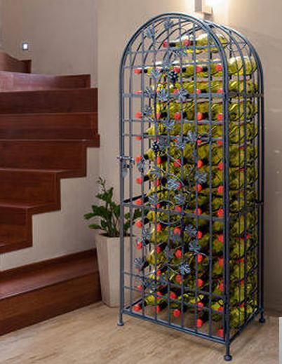 Beautiful 60 Bottle Metal Wine Rack