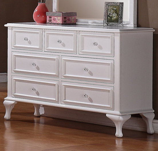 White Dresser For Girl And Optional Mirror