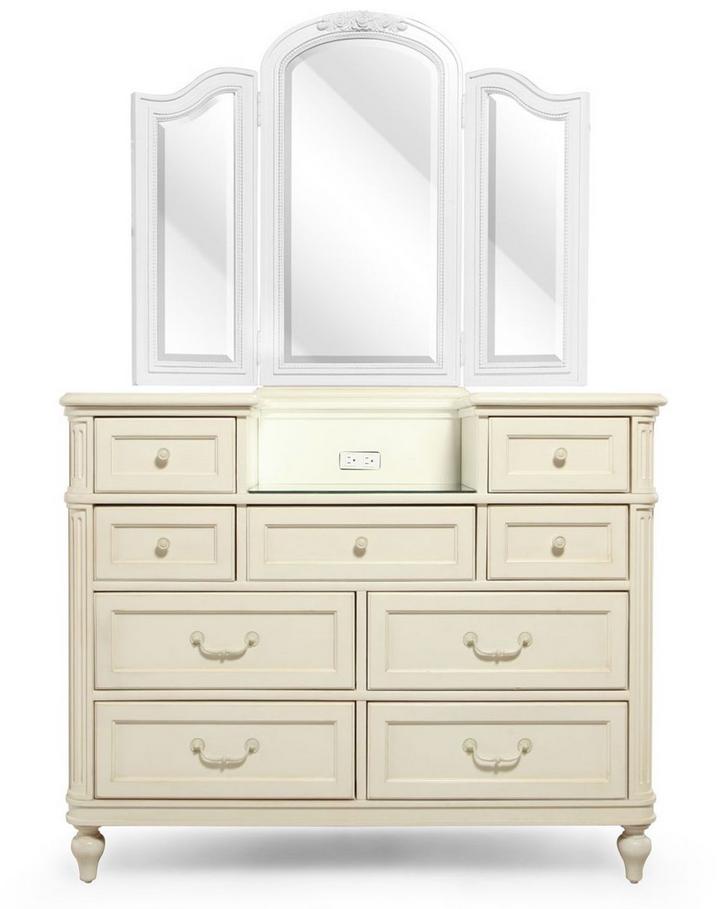 White Glaze Dresser