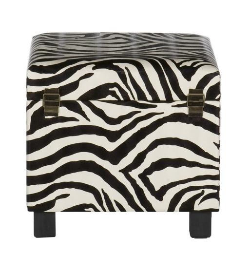 zebra Storage Leather ottoman
