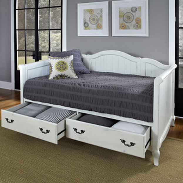 White French Daybed With Storage