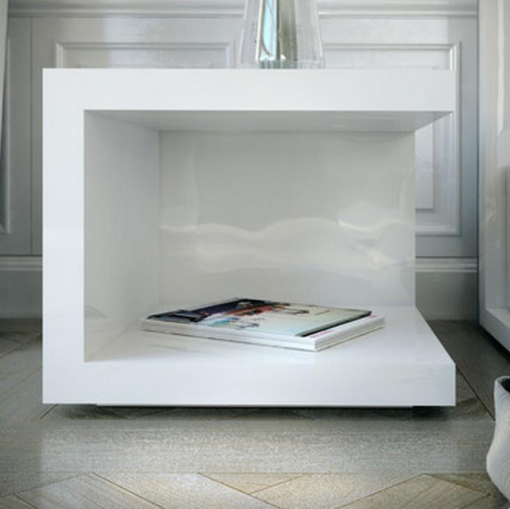 Modern White Nightstand