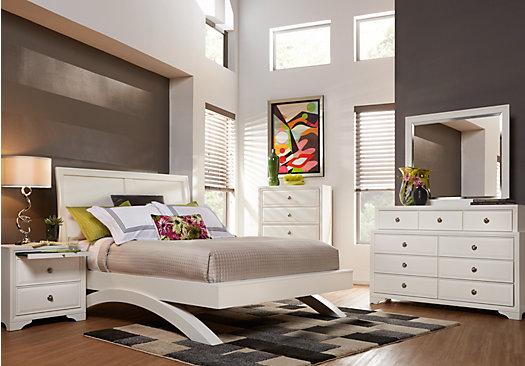 Belcourt White Queen Size Bed