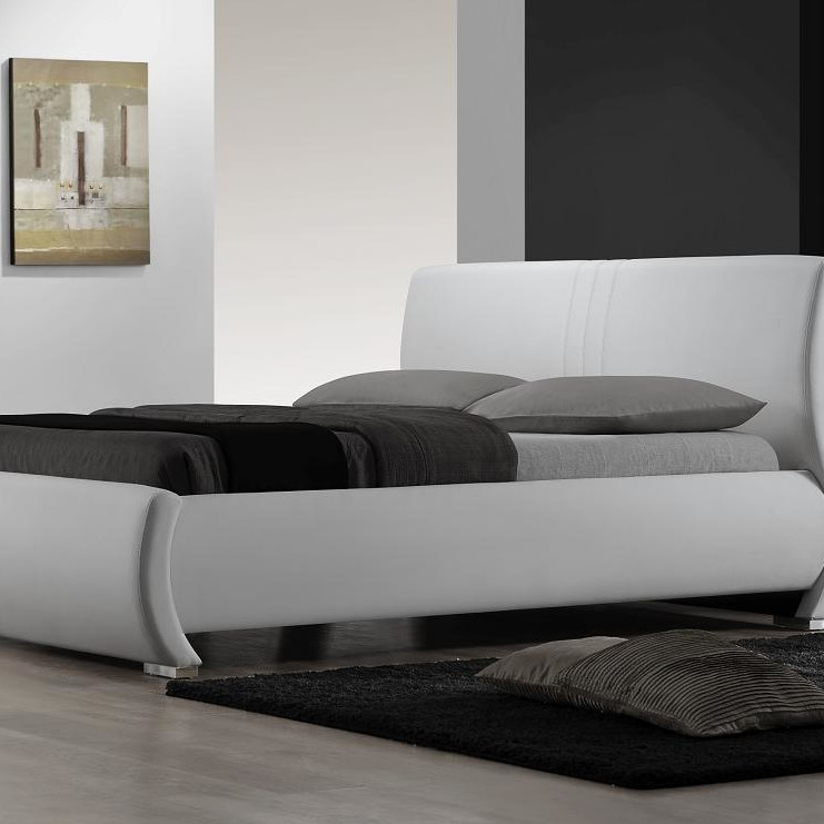 Queen Sized White Bed 1