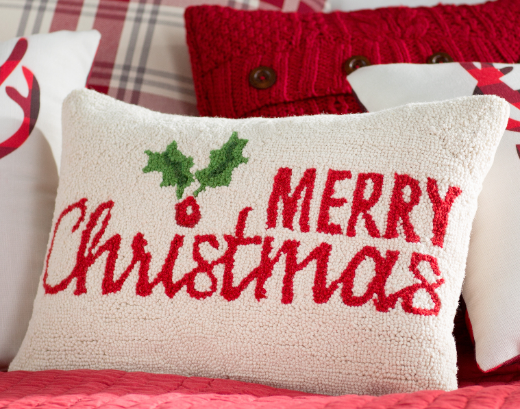 three-posts-merry-christmas-holly-hook-wool-lumbar-pillow
