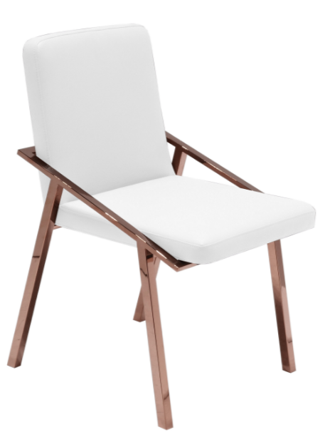 Addy Accent Chair, White