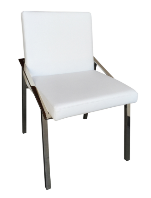 Kate Dining Chair, Silver_White