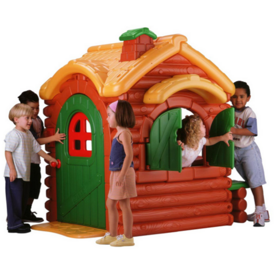 Wilderness Brown and Green Playhouse For Kids