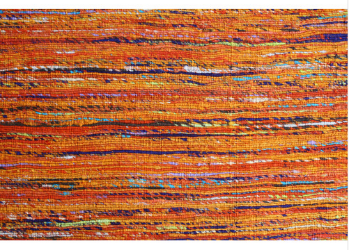 Orange rainbor Area Rug  By Noble House