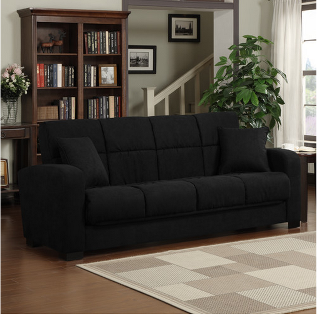 Black Convert Sleeper Sofa